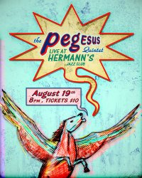 pegEsus Quintet Live at Hermanns Jazz Club (poster by Oliver Brooks))