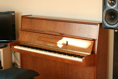 My new Petrof Piano